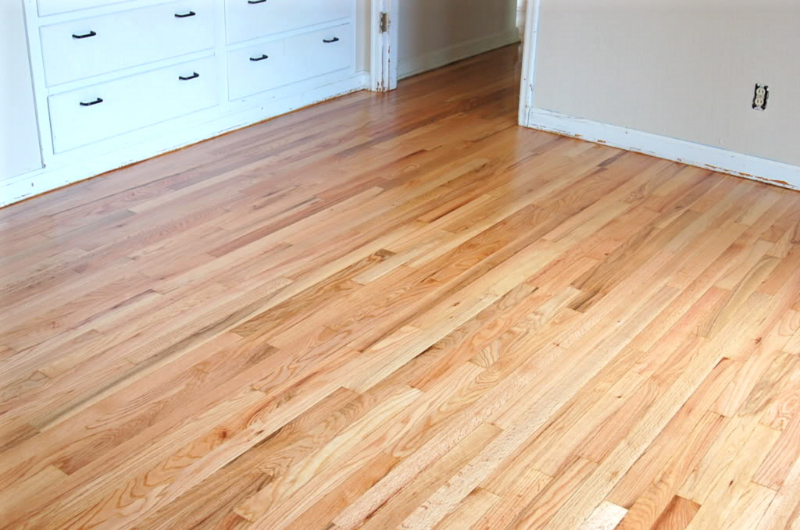 Refinished red oak floor-after restoration