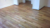 Refinished Waxed red oak hardwood floors - after