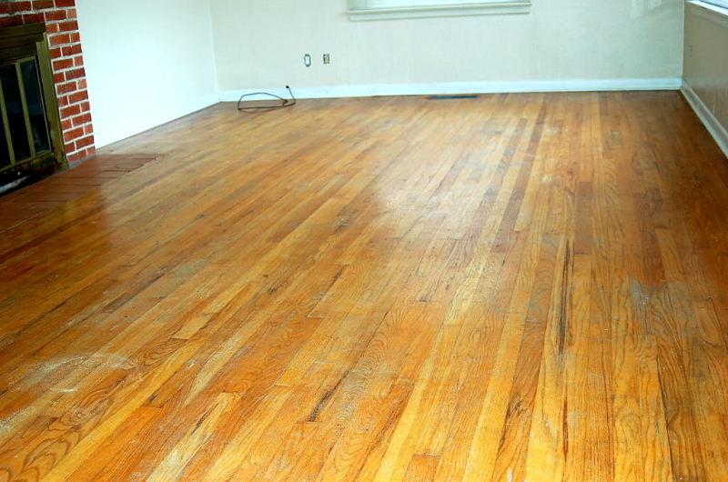 Salem Oregon Red oak floor restoration and refinish