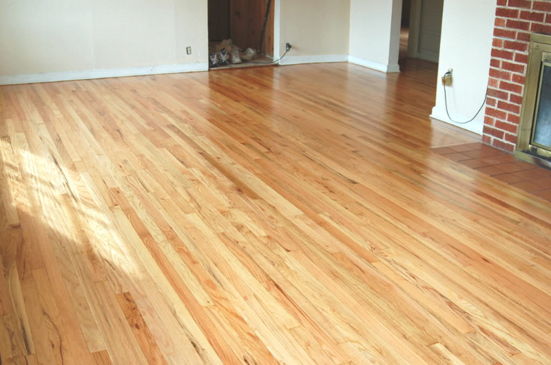 Salem Oregon red oak floor refinish