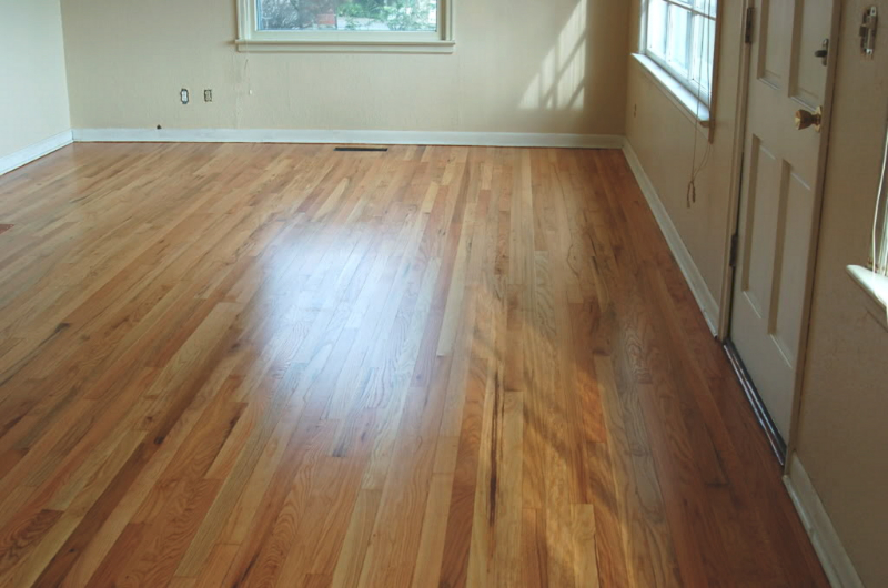 Red oak living room hardwood floor after hardwood for Oregon floor