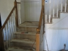 Red oak staircase remodel - before