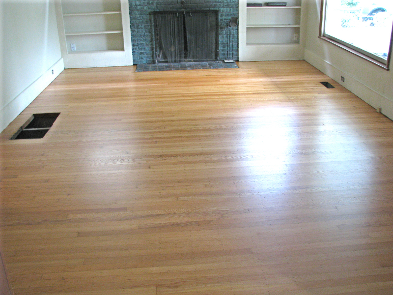 Portland Oregon white oak top nail hardwood floor - after