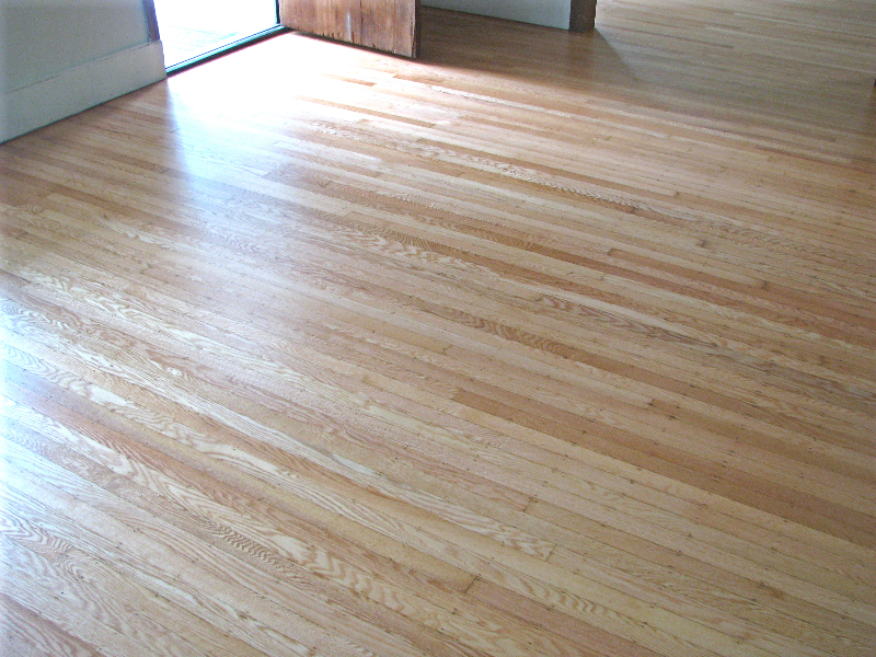 Portland white oak top nail hardwood floor - after