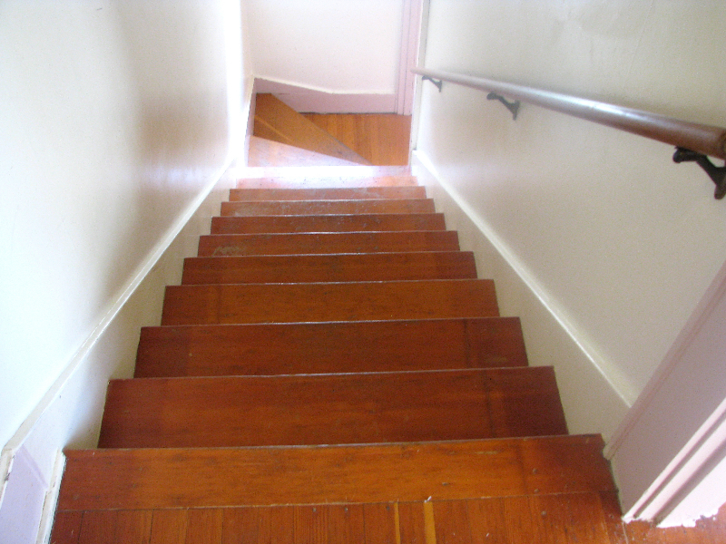 Salem Oregon fir staircase - before
