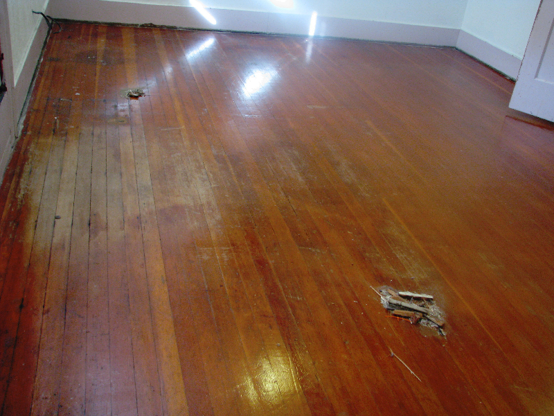 Salem Oregon Fir floor - before