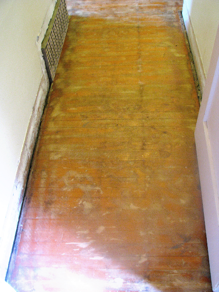Salem Oregon Fir hallway - before