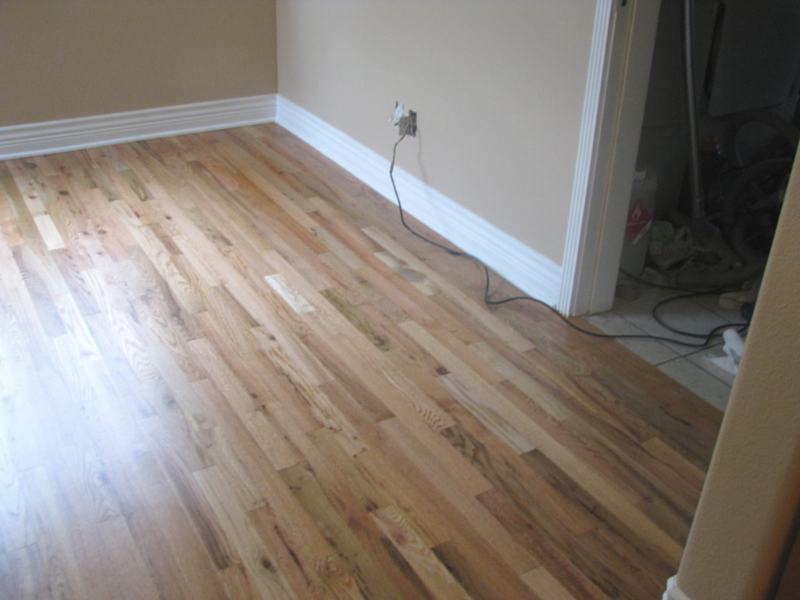 Salem oregon red oak floor refinish after hardwood for Oregon floor