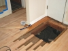 Salem Oregon red oak hardwood floor vent hole repair