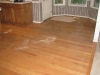 Red oak floor restoration in Keizer Oregon-before